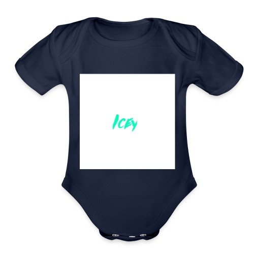 Icey logo - Organic Short Sleeve Baby Bodysuit
