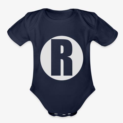 R white - Organic Short Sleeve Baby Bodysuit