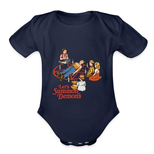 Lets Summon Demons - Organic Short Sleeve Baby Bodysuit