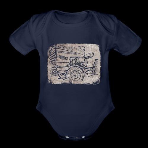 Mud Mower - Organic Short Sleeve Baby Bodysuit