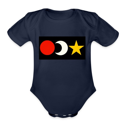 The Sun, Moon And Star. - Organic Short Sleeve Baby Bodysuit