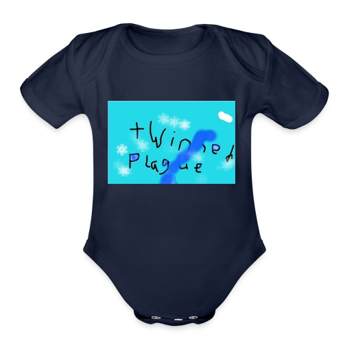 The official twinned army merch - Organic Short Sleeve Baby Bodysuit