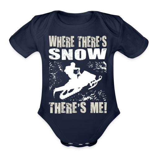 Snowmobile Snow Me - Organic Short Sleeve Baby Bodysuit