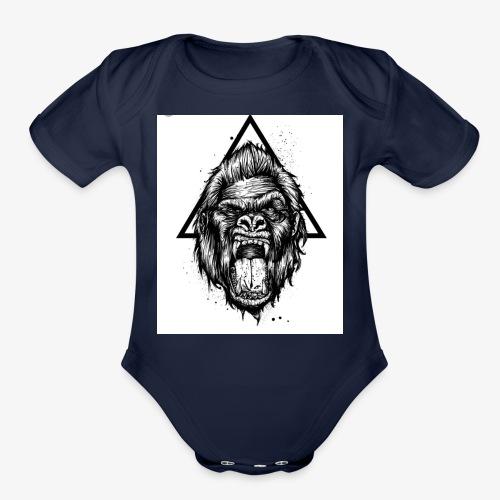 Be aware - Organic Short Sleeve Baby Bodysuit