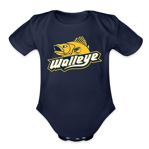 Walleye HC LOGO - Organic Short Sleeve Baby Bodysuit