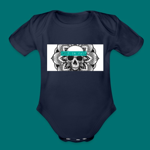 Lost in Fate Design #2 - Organic Short Sleeve Baby Bodysuit