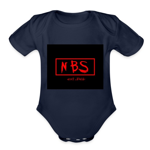 NBS phonecase - Organic Short Sleeve Baby Bodysuit