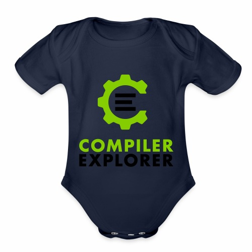 Logo and text - Organic Short Sleeve Baby Bodysuit
