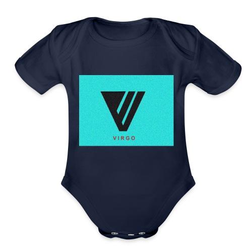 Virgo : Color - Organic Short Sleeve Baby Bodysuit
