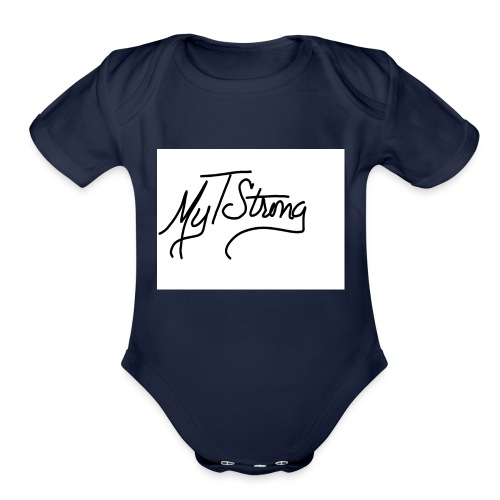 MyTStrong_Script - Organic Short Sleeve Baby Bodysuit