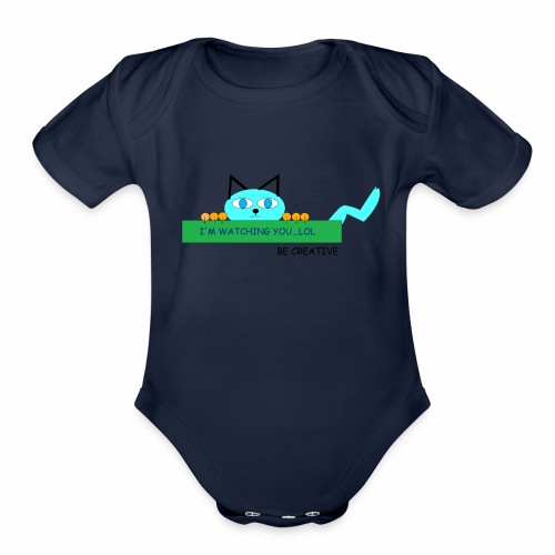CREATIVE CAT - Organic Short Sleeve Baby Bodysuit