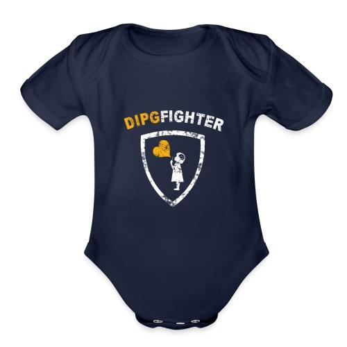 DIPG Fighter Classic - Organic Short Sleeve Baby Bodysuit