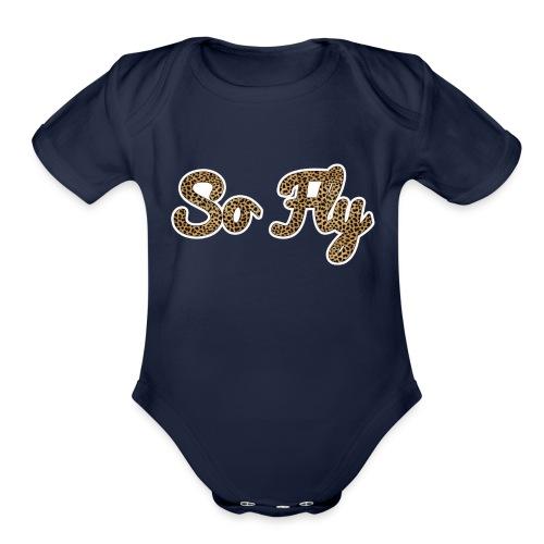 So Fly Cheetah - Organic Short Sleeve Baby Bodysuit