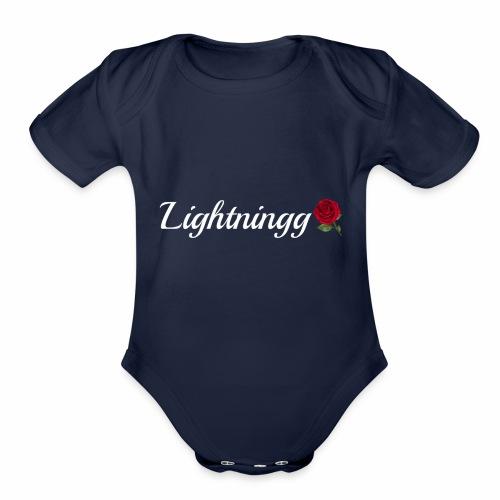 LightningMerch2 - Organic Short Sleeve Baby Bodysuit