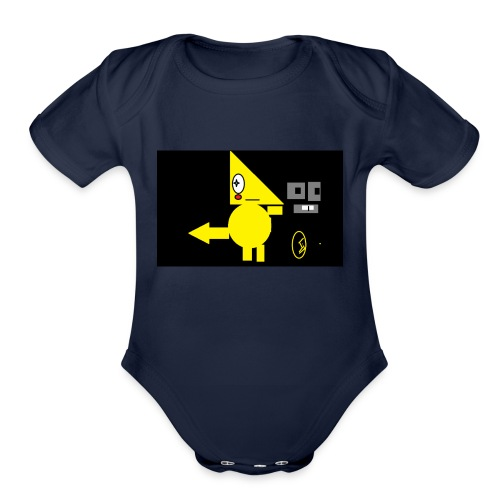 diageal 2.0 none costume now real skin form - Organic Short Sleeve Baby Bodysuit
