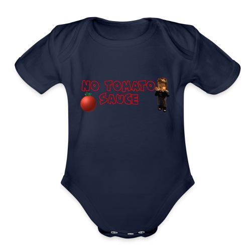 No Tomato Sauce - Organic Short Sleeve Baby Bodysuit