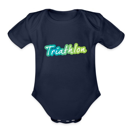A great Triathlon gift for your friend or family - Organic Short Sleeve Baby Bodysuit