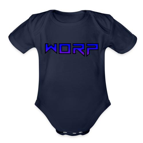 Text - Organic Short Sleeve Baby Bodysuit