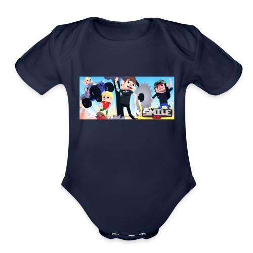 Smile Inc Hoodie - Organic Short Sleeve Baby Bodysuit