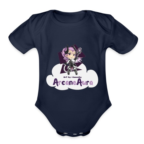 ArcaneAura - Organic Short Sleeve Baby Bodysuit