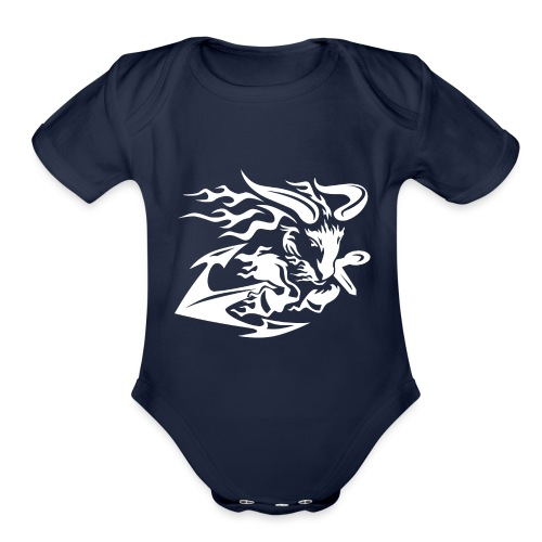 Goat with Anchor - Organic Short Sleeve Baby Bodysuit