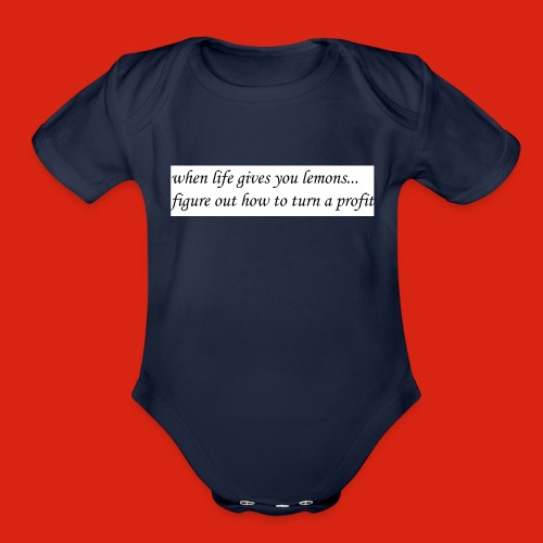 when life gives business man lemons - Organic Short Sleeve Baby Bodysuit