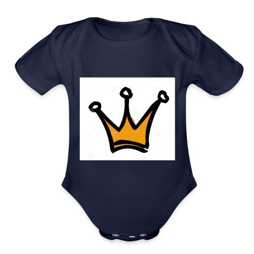 crown-1196222 - Organic Short Sleeve Baby Bodysuit