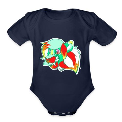 Psychedelic Lion - Organic Short Sleeve Baby Bodysuit