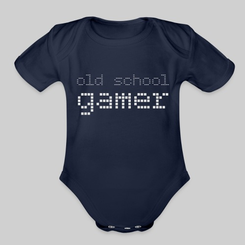 Old School Gamer - Organic Short Sleeve Baby Bodysuit