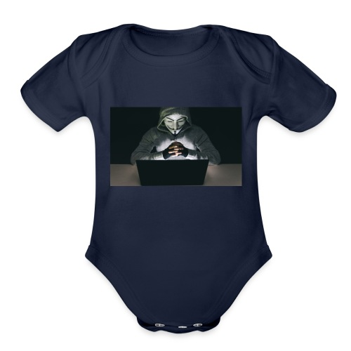 The Official Anonymus Logo - Organic Short Sleeve Baby Bodysuit