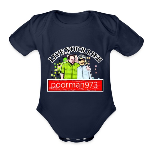 Don't let Depression Win, Live Your Life - Organic Short Sleeve Baby Bodysuit