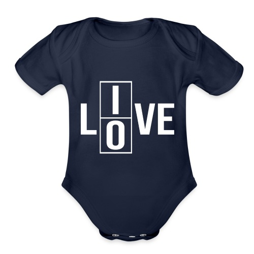 live love 2 - Organic Short Sleeve Baby Bodysuit