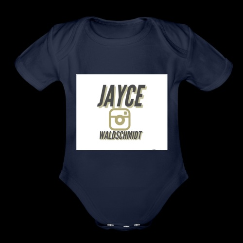 jayces main merch - Organic Short Sleeve Baby Bodysuit