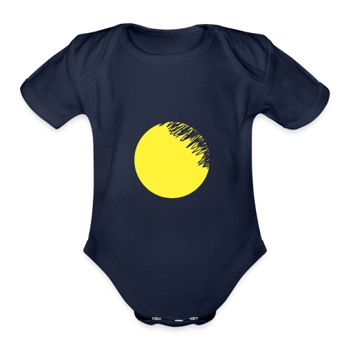 moon - Organic Short Sleeve Baby Bodysuit