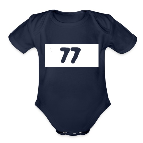 77 aftershock sweater for kids - Organic Short Sleeve Baby Bodysuit