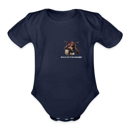 dicks out for harambe - Organic Short Sleeve Baby Bodysuit