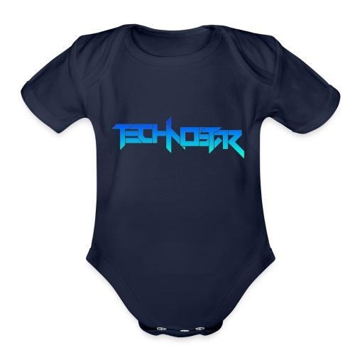 Blue Technostar Logo Apparel - Organic Short Sleeve Baby Bodysuit
