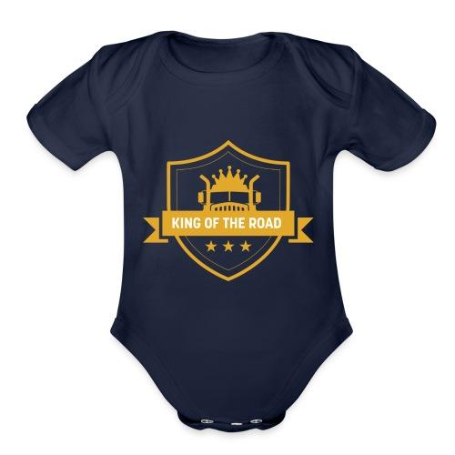 King of the Road - Organic Short Sleeve Baby Bodysuit