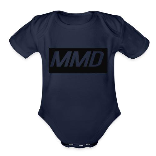 mddlogo - Organic Short Sleeve Baby Bodysuit