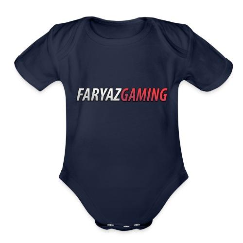FaryazGaming Text - Organic Short Sleeve Baby Bodysuit
