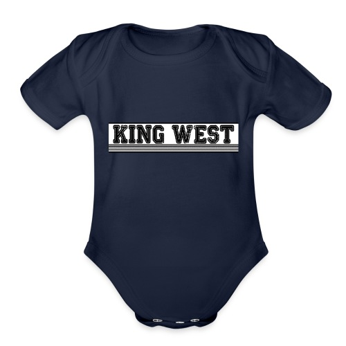 King West OG logo - Organic Short Sleeve Baby Bodysuit