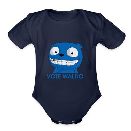 Vote Waldo - Organic Short Sleeve Baby Bodysuit