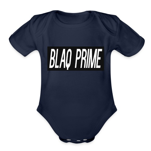 Blaq Prime Box Logo - Organic Short Sleeve Baby Bodysuit