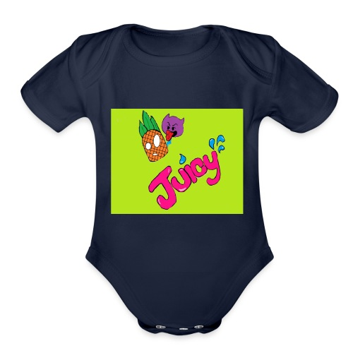 Juicy lime green - Organic Short Sleeve Baby Bodysuit