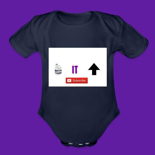 BleachItUp Apparel - Organic Short Sleeve Baby Bodysuit
