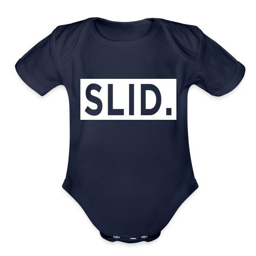 WHITE SLID. - Organic Short Sleeve Baby Bodysuit