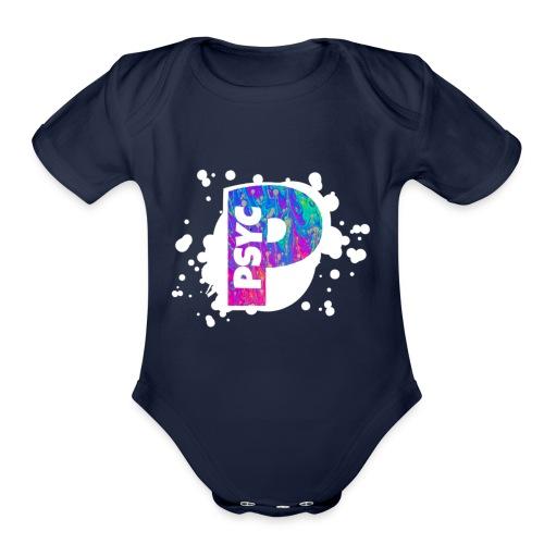 PSYC Channel Art Design - Organic Short Sleeve Baby Bodysuit