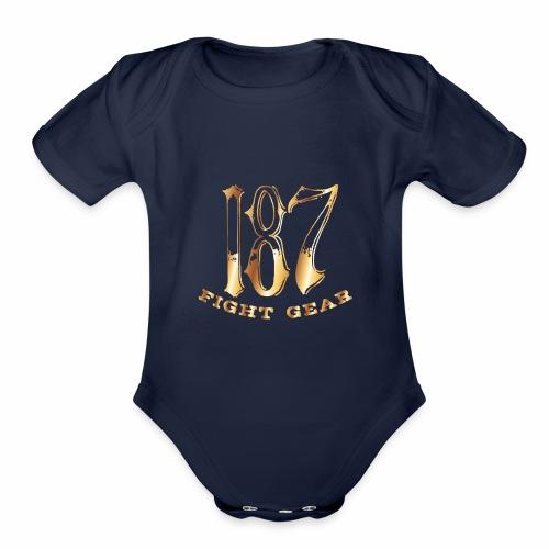 187 Fight Gear Gold Logo Street Wear - Organic Short Sleeve Baby Bodysuit
