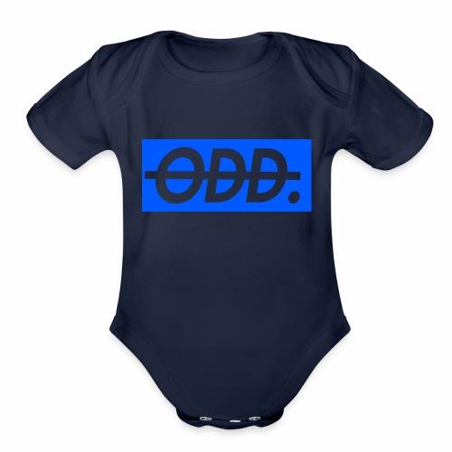ODD blue - Organic Short Sleeve Baby Bodysuit