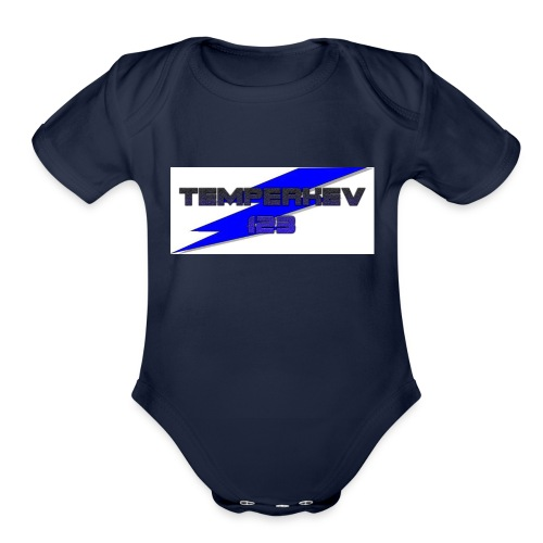Temperkev123 shirt - Organic Short Sleeve Baby Bodysuit